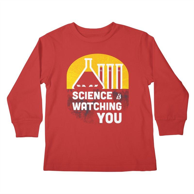 Science is Watching You Kids Longsleeve T-Shirt by mj's Artist Shop