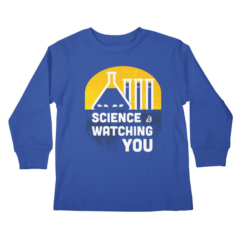 Science is Watching You Kids Longsleeve T-Shirt by mj's Artist Shop