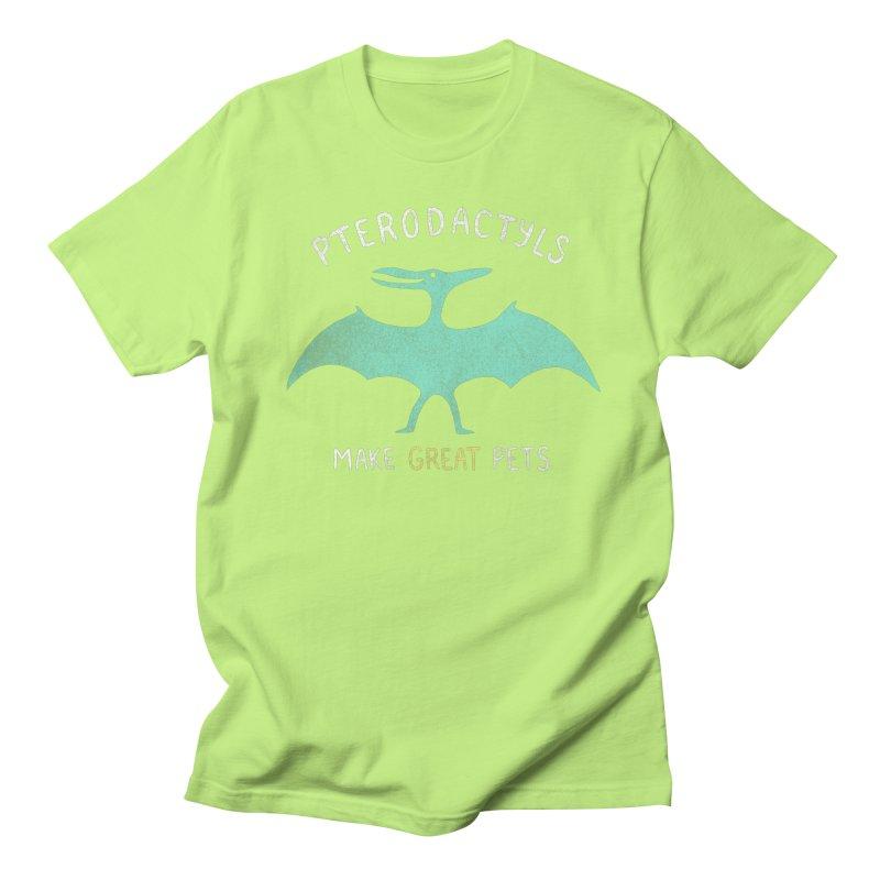 Pterodactyls Make Great Pets Men's Regular T-Shirt by mj's Artist Shop
