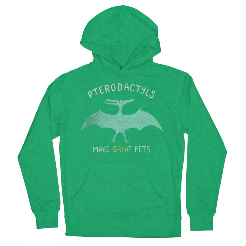Pterodactyls Make Great Pets Women's Pullover Hoody by mj's Artist Shop