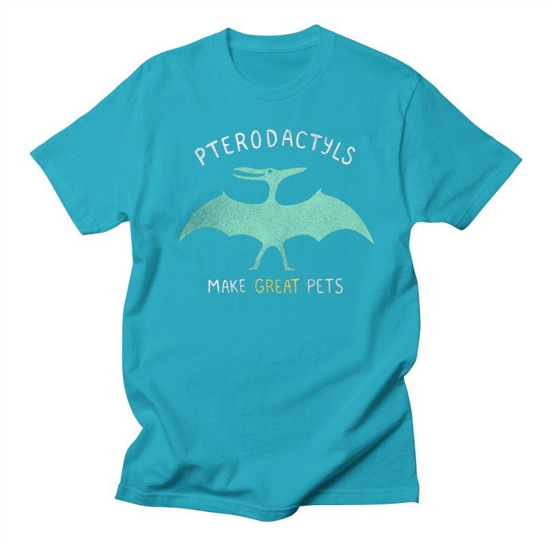 Pterodactyls Make Great Pets Men's T-Shirt by mj's Artist Shop