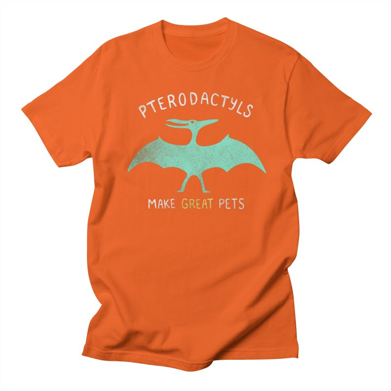 Pterodactyls Make Great Pets Men's T-Shirt by mj's Artist Shop