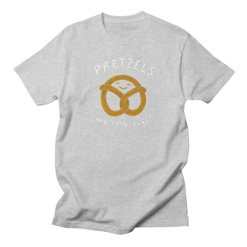 Pretzels are Little Hugs Men's T-shirt by mj's Artist Shop