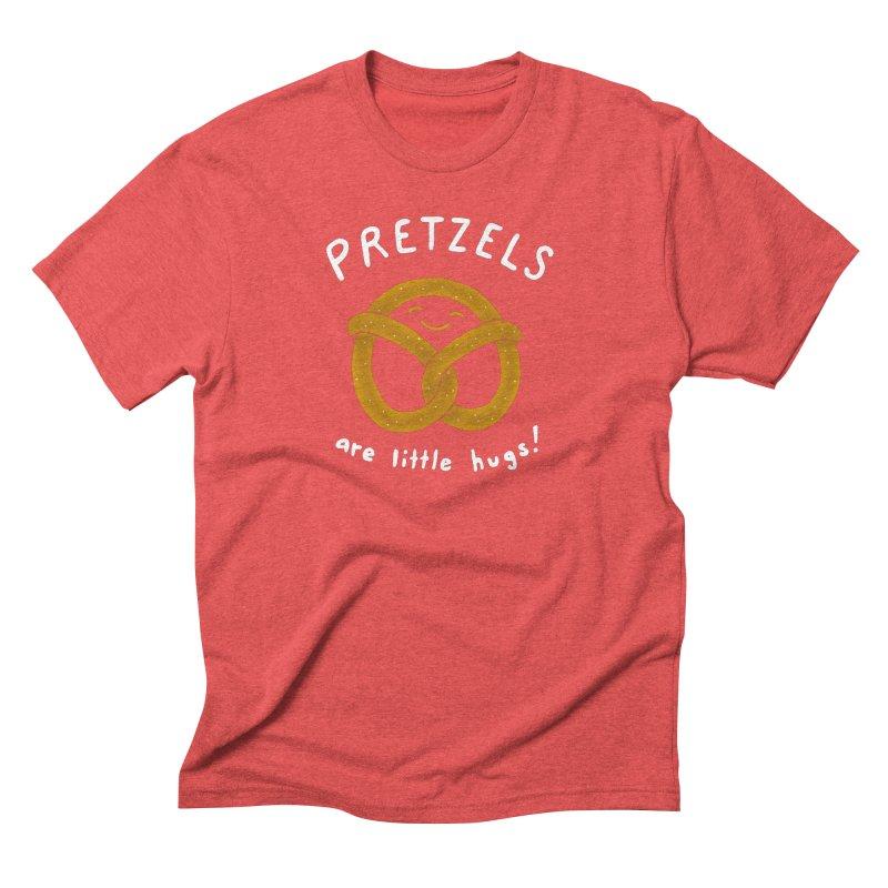 Pretzels are Little Hugs Men's Triblend T-Shirt by mj's Artist Shop
