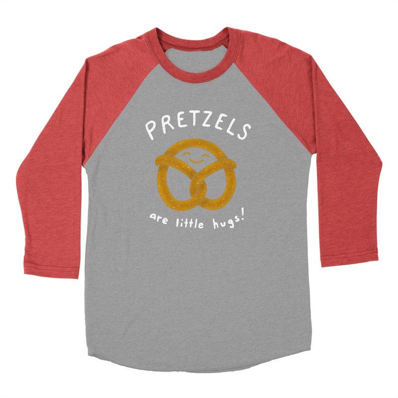 Pretzels are Little Hugs Women's Baseball Triblend T-Shirt by mj's Artist Shop