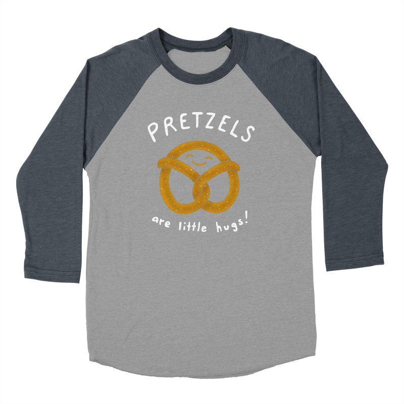Pretzels are Little Hugs Men's Baseball Triblend T-Shirt by mj's Artist Shop