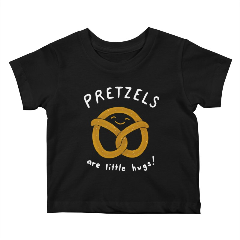 Pretzels are Little Hugs Kids Baby T-Shirt by mj's Artist Shop