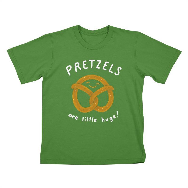 Pretzels are Little Hugs Kids T-Shirt by mj's Artist Shop