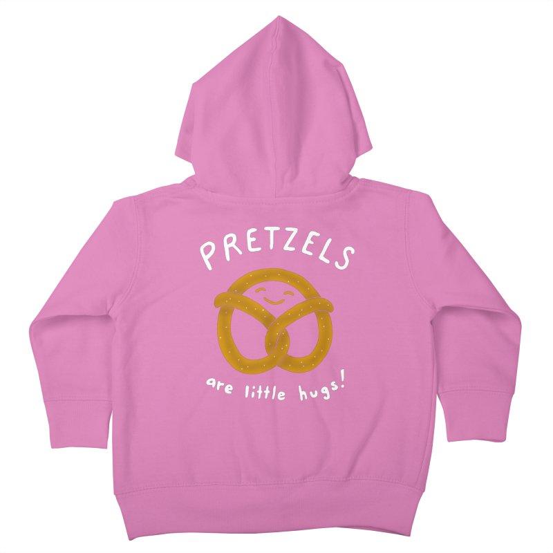 Pretzels are Little Hugs Kids Toddler Zip-Up Hoody by mj's Artist Shop
