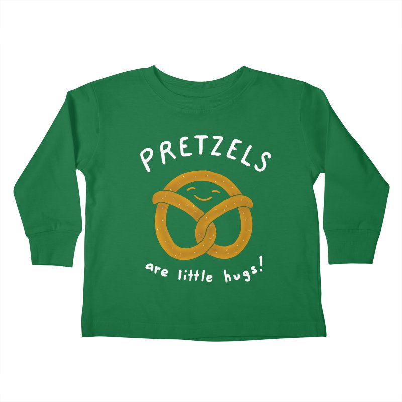 Pretzels are Little Hugs Kids Toddler Longsleeve T-Shirt by mj's Artist Shop