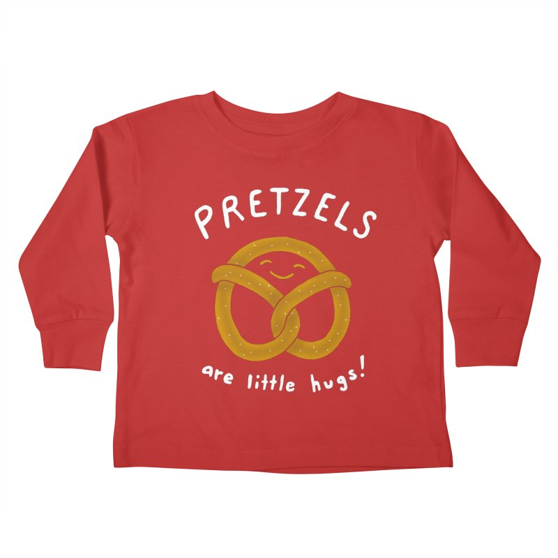 Pretzels are Little Hugs Kids Toddler Longsleeve T-Shirt by mj's Artist Shop