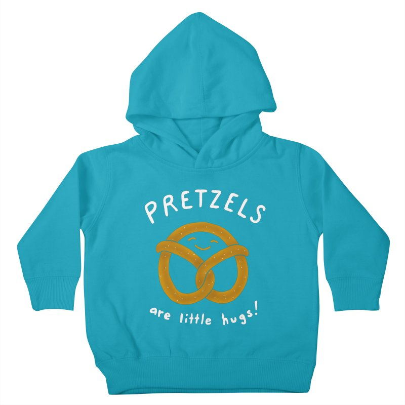 Pretzels are Little Hugs Kids Toddler Pullover Hoody by mj's Artist Shop