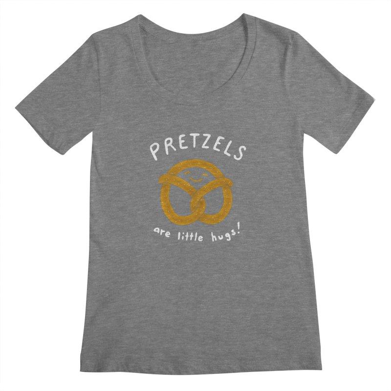 Pretzels are Little Hugs Women's Scoopneck by mj's Artist Shop