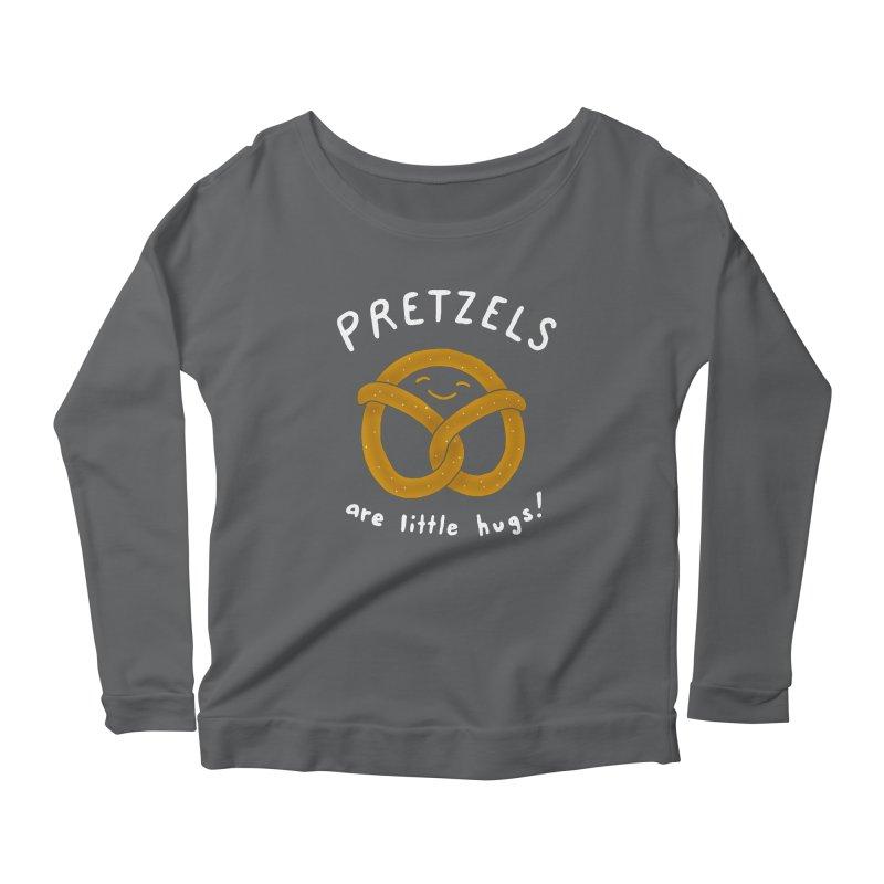 Pretzels are Little Hugs Women's Scoop Neck Longsleeve T-Shirt by mj's Artist Shop
