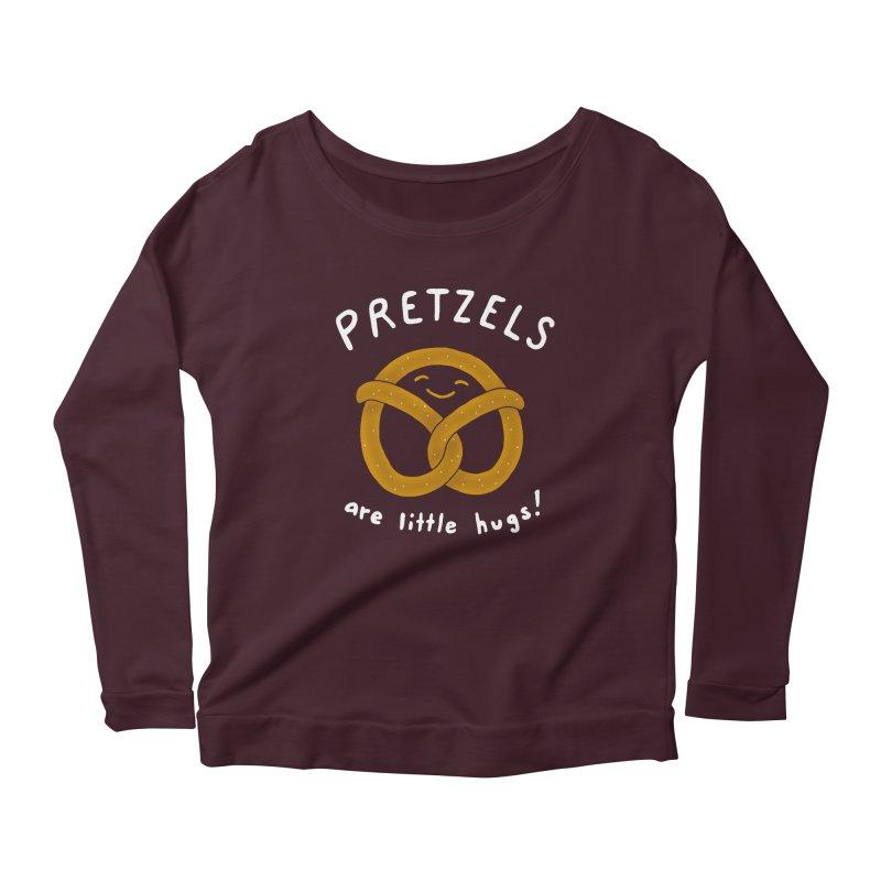 Pretzels are Little Hugs Women's Longsleeve Scoopneck  by mj's Artist Shop