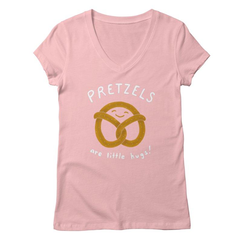 Pretzels are Little Hugs Women's Regular V-Neck by mj's Artist Shop
