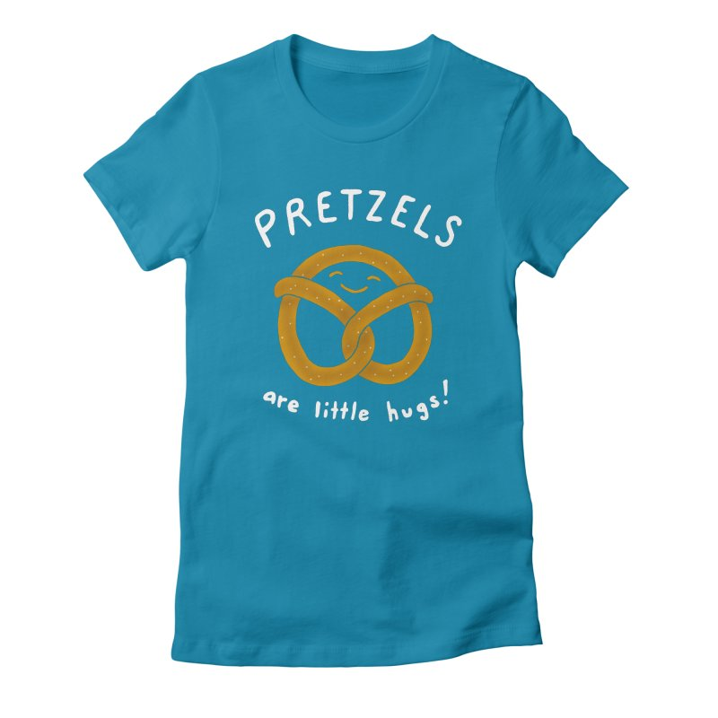 Pretzels are Little Hugs Women's Fitted T-Shirt by mj's Artist Shop