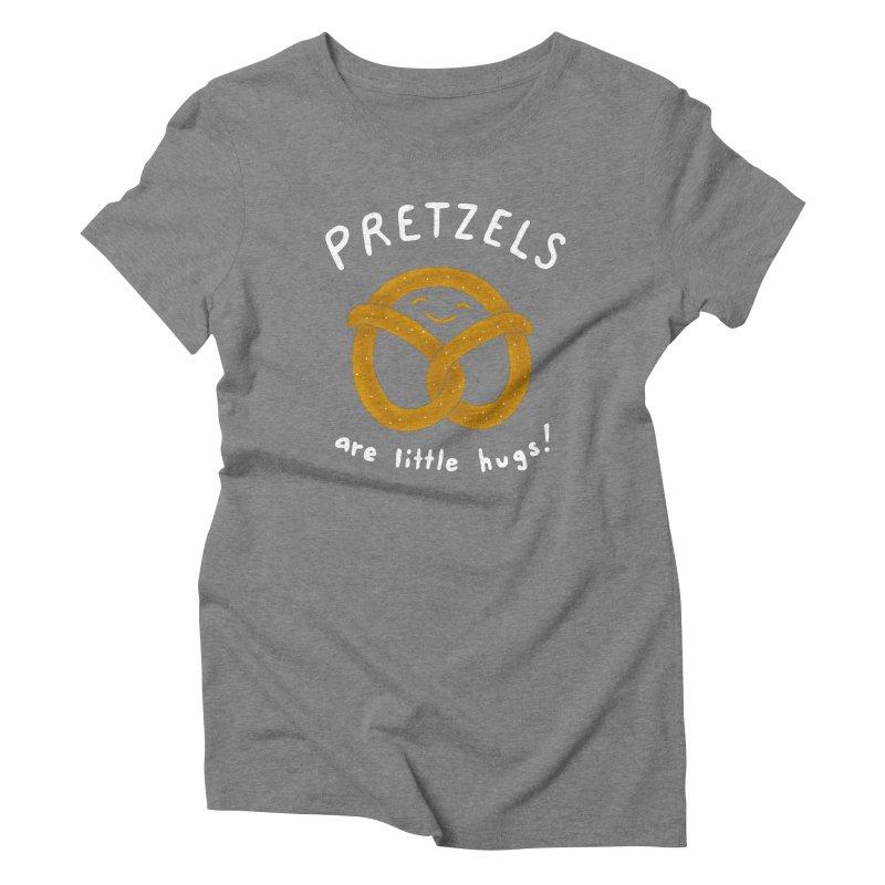 Pretzels are Little Hugs Women's Triblend T-Shirt by mj's Artist Shop