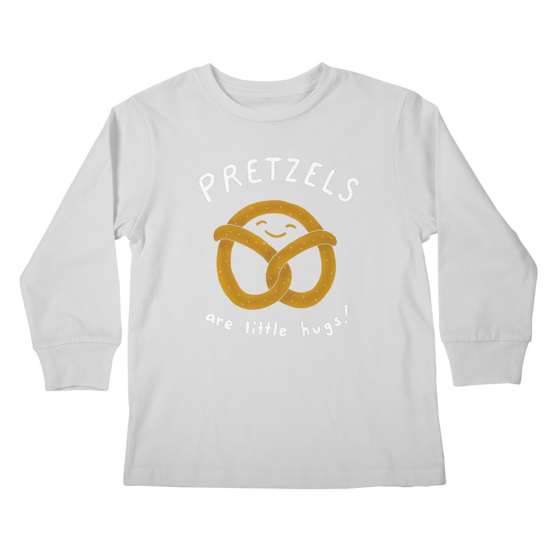 Pretzels are Little Hugs Kids Longsleeve T-Shirt by mj's Artist Shop