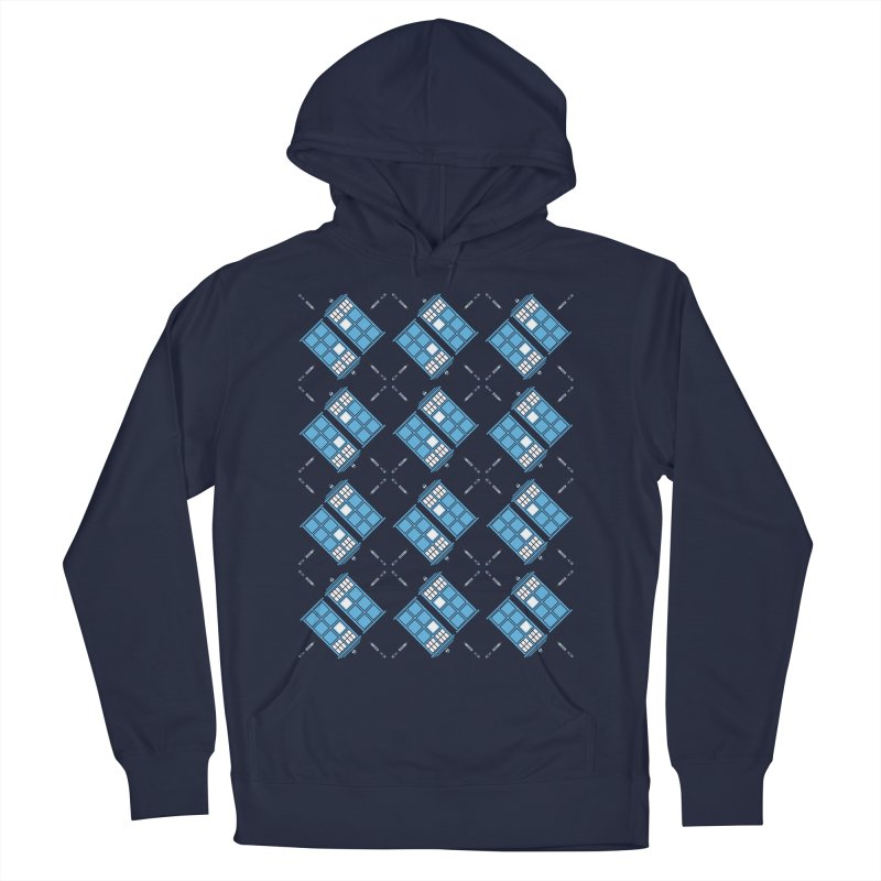 Gallifrey Argyle Women's French Terry Pullover Hoody by mj's Artist Shop