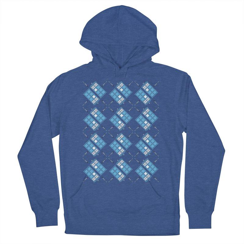 Gallifrey Argyle Men's Pullover Hoody by mj's Artist Shop