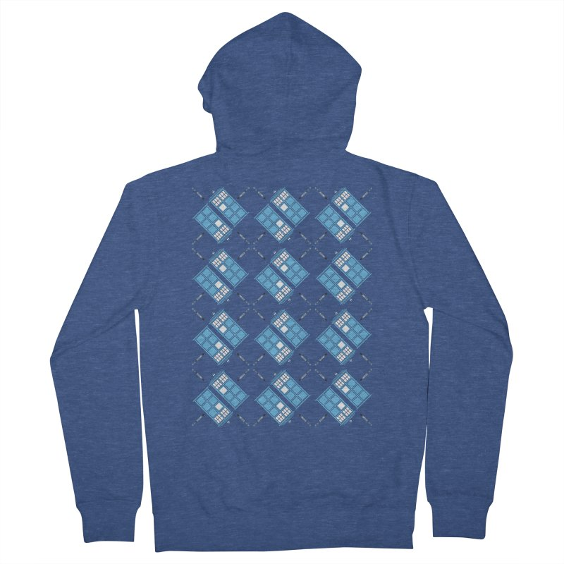 Gallifrey Argyle Women's Zip-Up Hoody by mj's Artist Shop