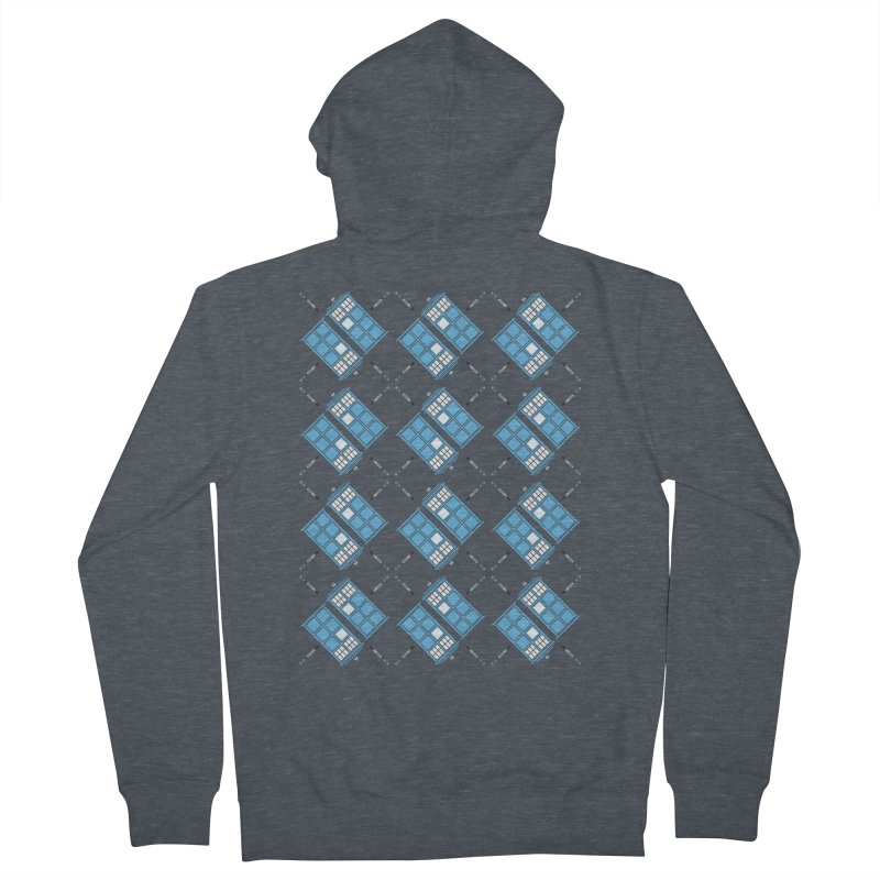 Gallifrey Argyle Men's French Terry Zip-Up Hoody by mj's Artist Shop