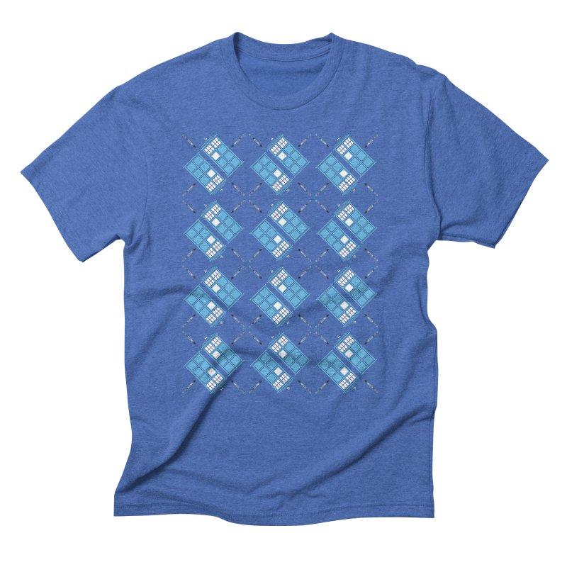 Gallifrey Argyle Men's Triblend T-Shirt by mj's Artist Shop