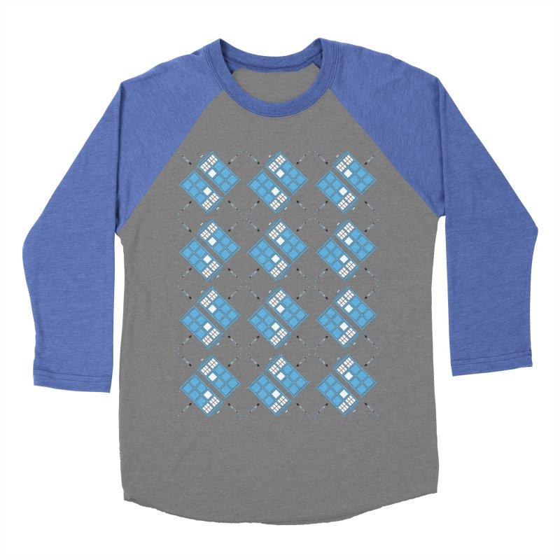 Gallifrey Argyle Women's Baseball Triblend T-Shirt by mj's Artist Shop