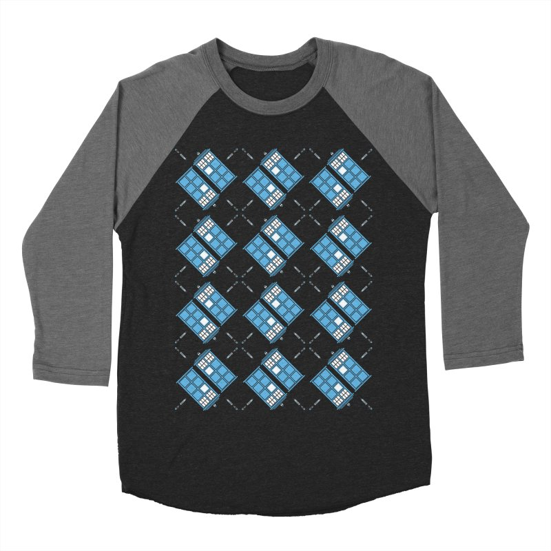 Gallifrey Argyle Men's Baseball Triblend Longsleeve T-Shirt by mj's Artist Shop