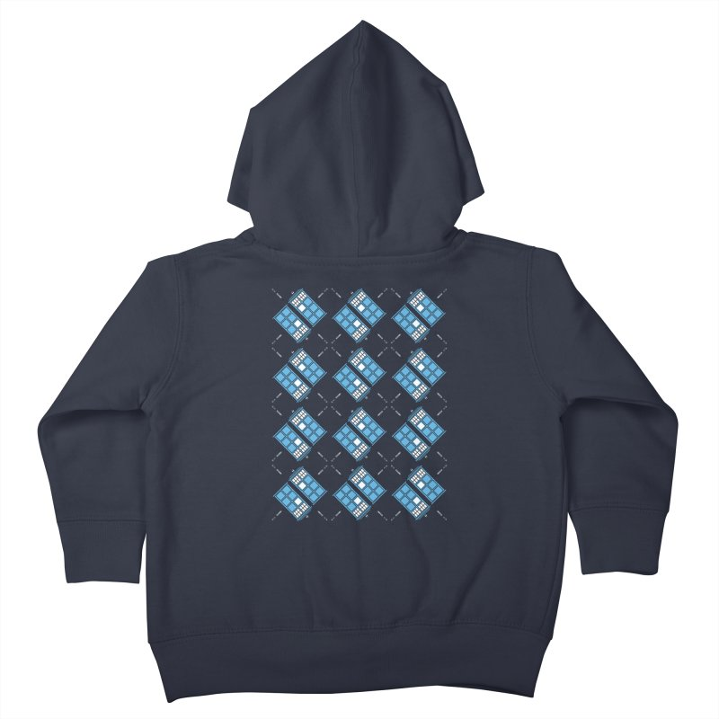Gallifrey Argyle Kids Toddler Zip-Up Hoody by mj's Artist Shop