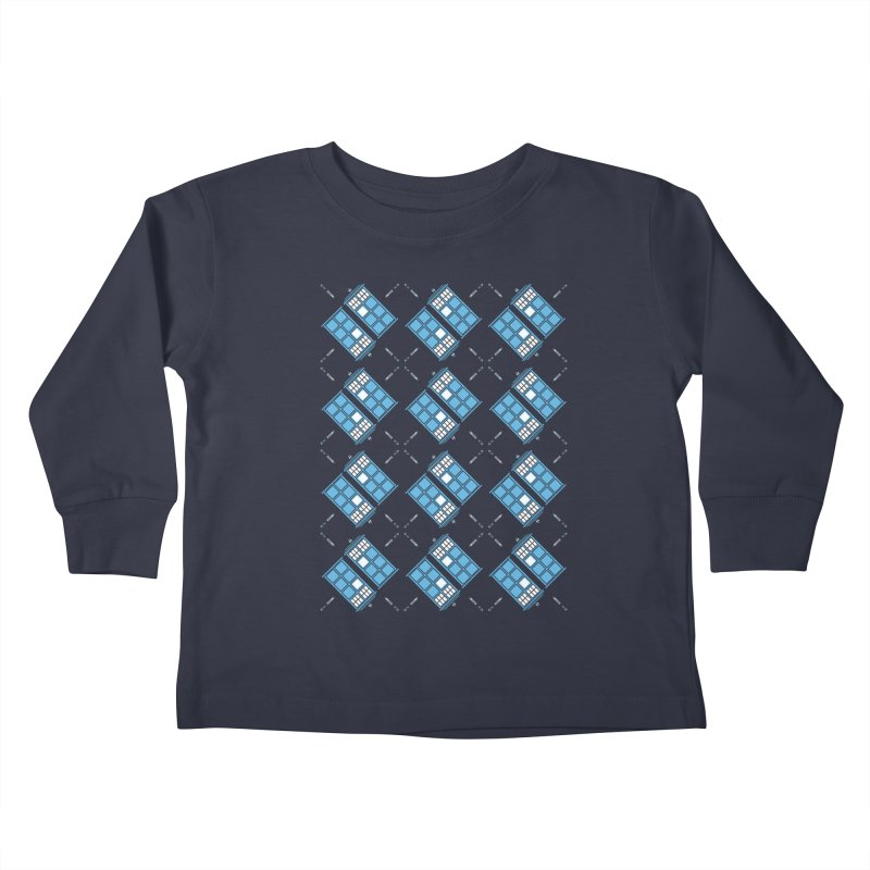 Gallifrey Argyle Kids Toddler Longsleeve T-Shirt by mj's Artist Shop