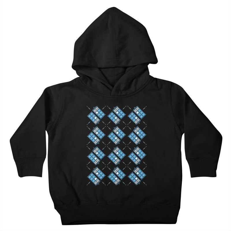 Gallifrey Argyle Kids Toddler Pullover Hoody by mj's Artist Shop