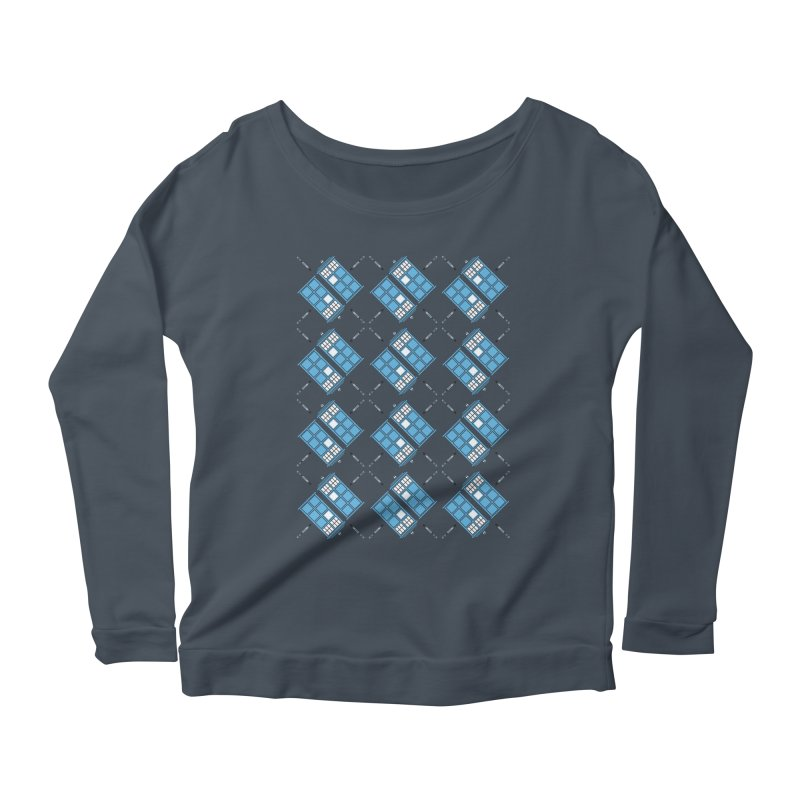 Gallifrey Argyle Women's Scoop Neck Longsleeve T-Shirt by mj's Artist Shop