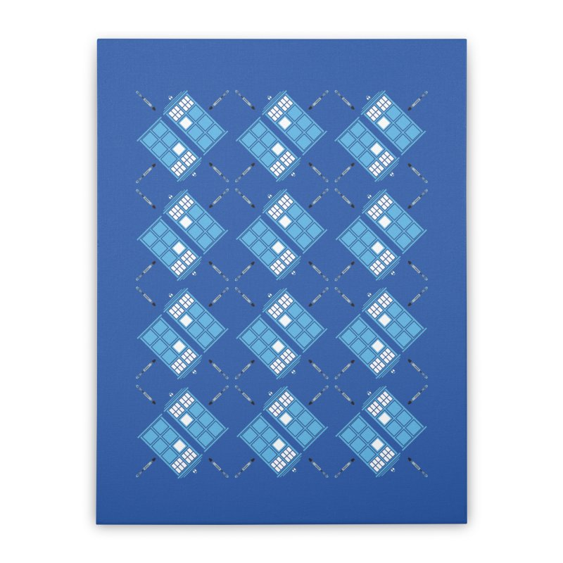 Gallifrey Argyle Home Stretched Canvas by mj's Artist Shop