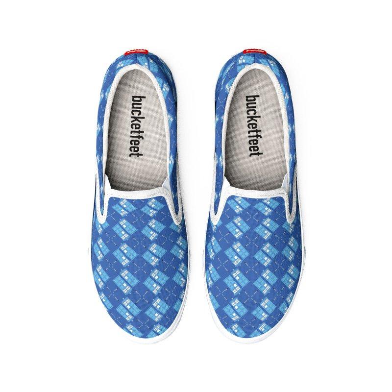 Gallifrey Argyle Women's Shoes by mj's Artist Shop