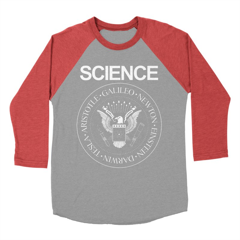 Science Rocks Men's Baseball Triblend T-Shirt by mj's Artist Shop