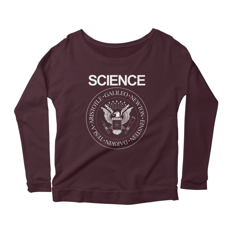 Science Rocks Women's Scoop Neck Longsleeve T-Shirt by mj's Artist Shop