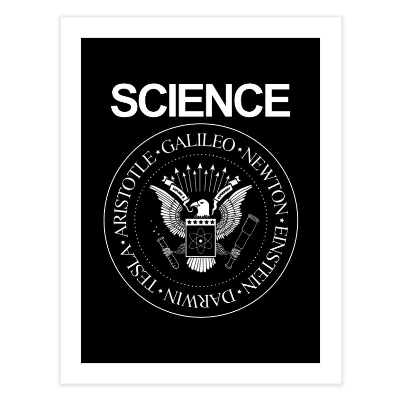 Science Rocks Home Fine Art Print by mj's Artist Shop
