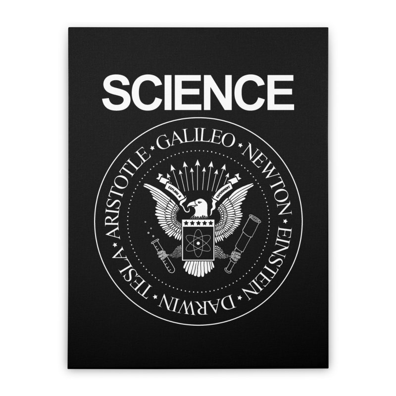 Science Rocks Home Stretched Canvas by mj's Artist Shop
