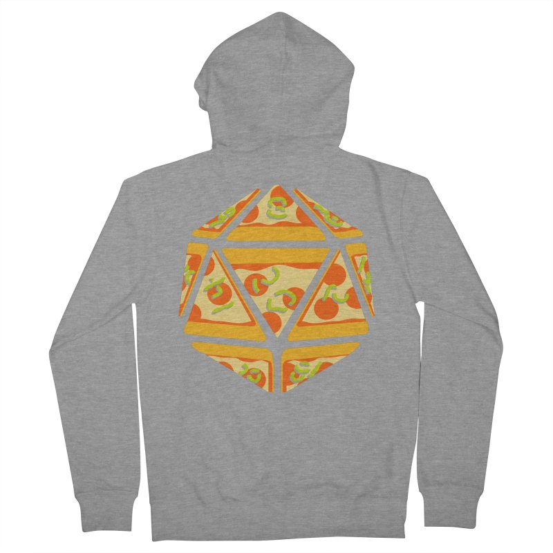 Pizza Roll Men's French Terry Zip-Up Hoody by mj's Artist Shop