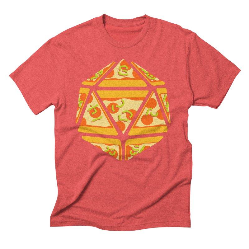 Pizza Roll Men's Triblend T-Shirt by mj's Artist Shop
