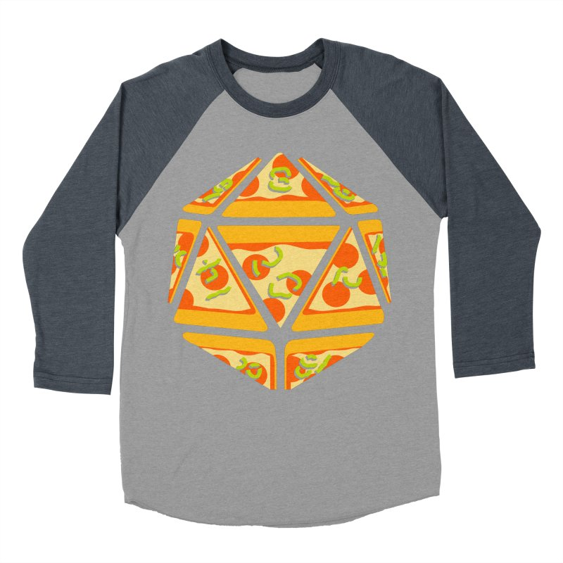 Pizza Roll Men's Baseball Triblend Longsleeve T-Shirt by mj's Artist Shop