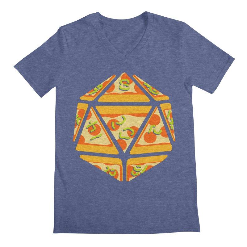 Pizza Roll Men's V-Neck by mj's Artist Shop