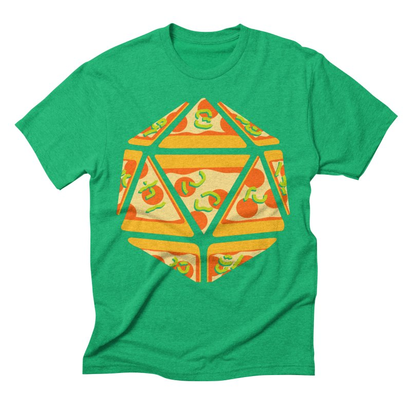 Pizza Roll Men's Triblend T-shirt by mj's Artist Shop