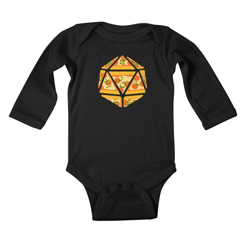 Pizza Roll Kids Baby Longsleeve Bodysuit by mj's Artist Shop