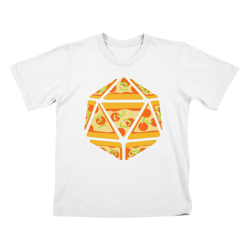 Pizza Roll Kids T-Shirt by mj's Artist Shop