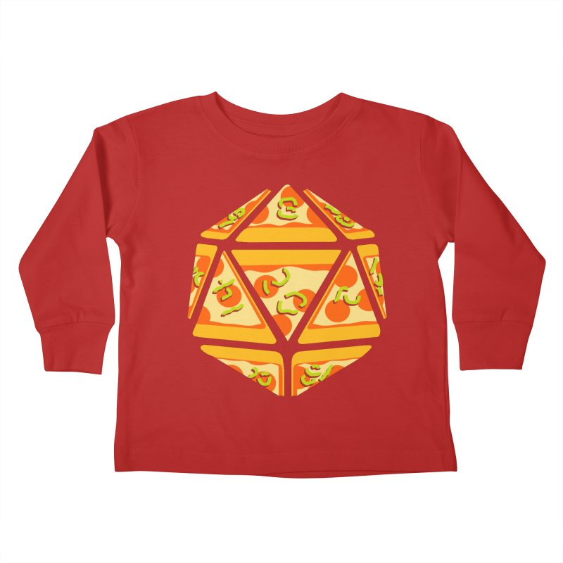 Pizza Roll Kids Toddler Longsleeve T-Shirt by mj's Artist Shop