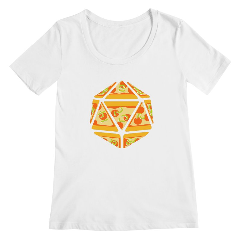 Pizza Roll Women's Scoopneck by mj's Artist Shop