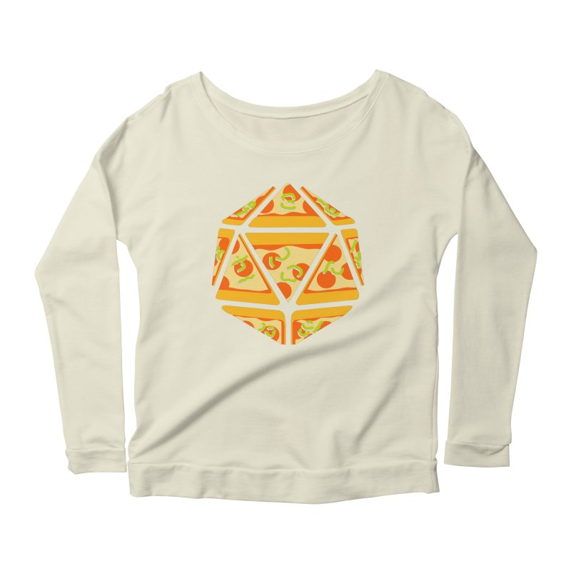 Pizza Roll Women's Longsleeve Scoopneck  by mj's Artist Shop